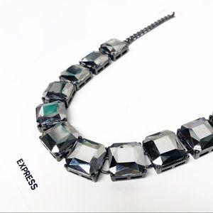 Express • Hematite Gunmetal Statement Necklace